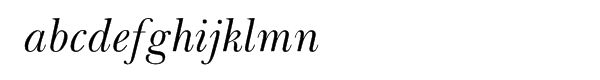 Baskerville Cyrillic Inclined Font LOWERCASE
