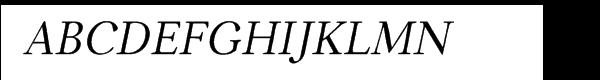 Carniola™ Italic  Free Fonts Download