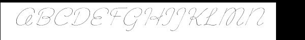 "Chic Hand Light Slantedâ""¢  font caratteri gratis"