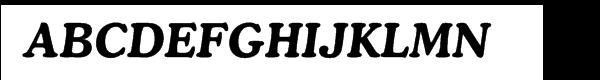 Cooper Cyrillic Bold Italic  Frei Schriftart Herunterladen