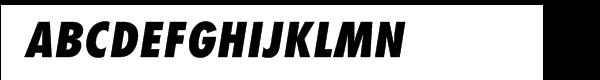 Futura® Com Extra Bold Condensed Oblique  नि: शुल्क फ़ॉन्ट्स डाउनलोड