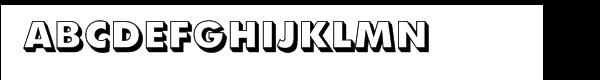 Futura® Extra Bold Shaded  Free Fonts Download