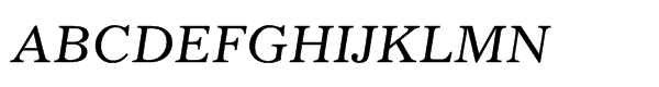 Gazette® Std Italic  What Font is