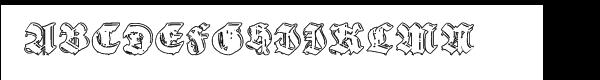 Gothic Handtooled Bastarda Outline  font caratteri gratis