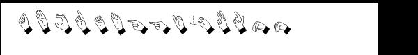 Hand Sign  Fuentes Gratis Descargar