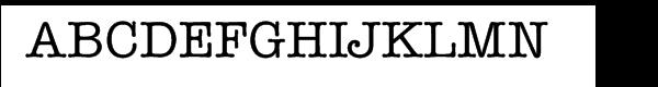 ITC American Typewriter® Medium  Free Fonts Download