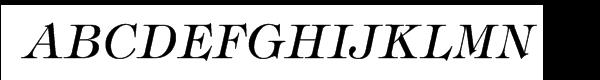 ITC Tiffany® Medium Italic  Free Fonts Download