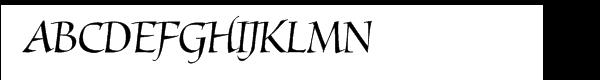 Mantegna Italic  Скачать бесплатные шрифты