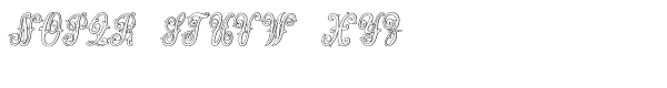 MFC Jewelers Monogram 25000 Impressions Font UPPERCASE
