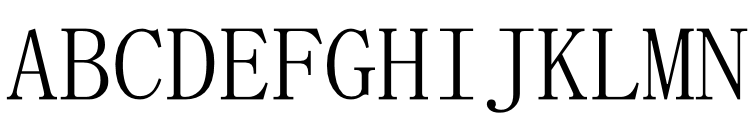 MS Mincho - Japanese  font caratteri gratis