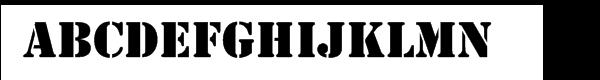 Stencil™ Cyrillic Regular  Скачать бесплатные шрифты
