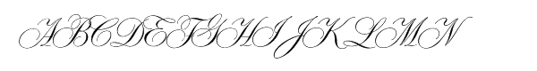 Symphony Regular Font UPPERCASE