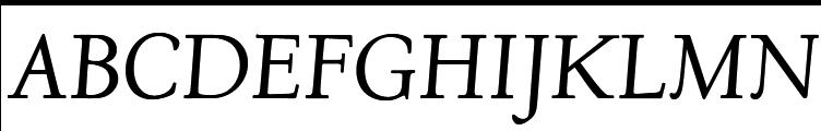 URW Deepdene Italic  フリーフォントのダウンロード